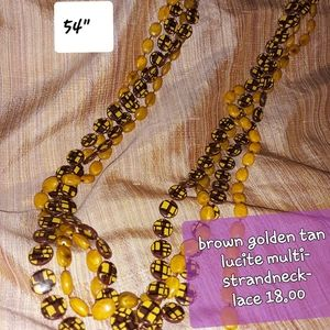 """Vintage lucite 54"""" luxurious multi strand necklace"""